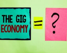 Text sign showing The Gig Economy.