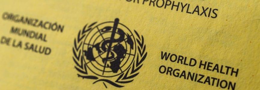 World Health Organization ICVP vaccination booklet certificate