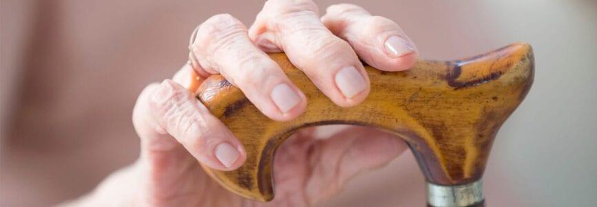hand on cane